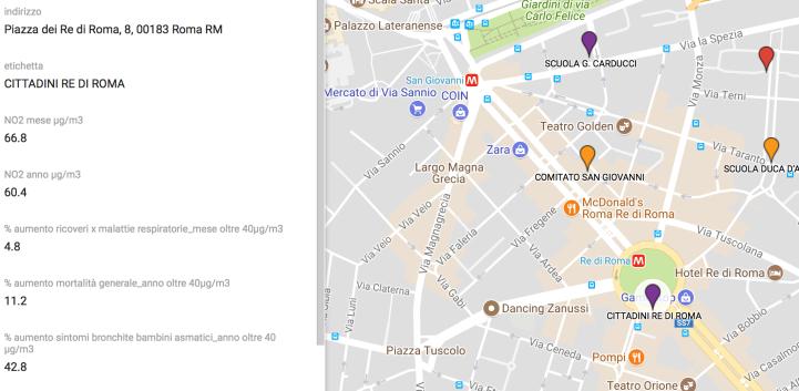 valori registrati a Piazza dei Re di Roma #No2NoGrazie